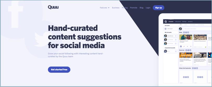 Social Media Management Tool quuu