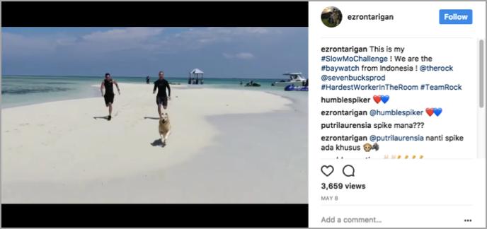 Dwayne Johnson hashtag competition