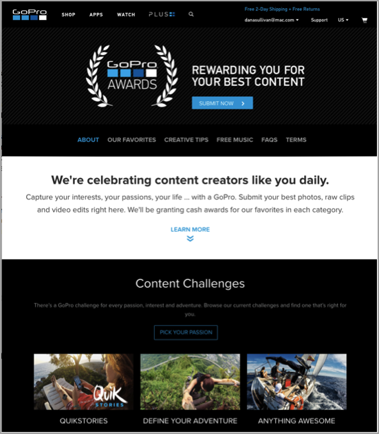 GoPro hashtag competition