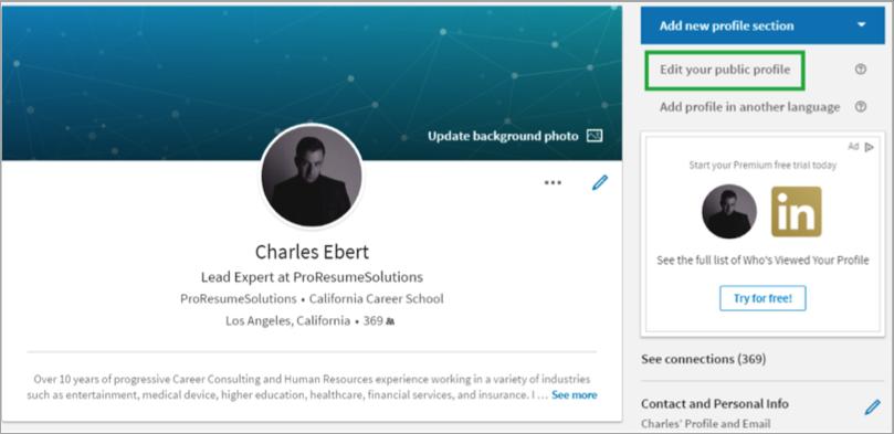 Linkedin profile tip - image 1