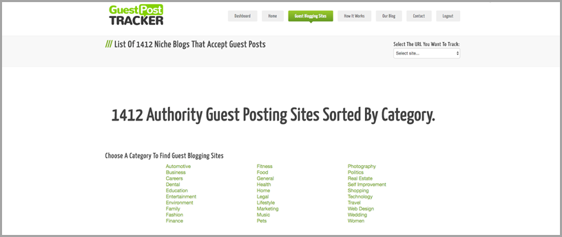Content Marketing 101 - Guest Post Tracker