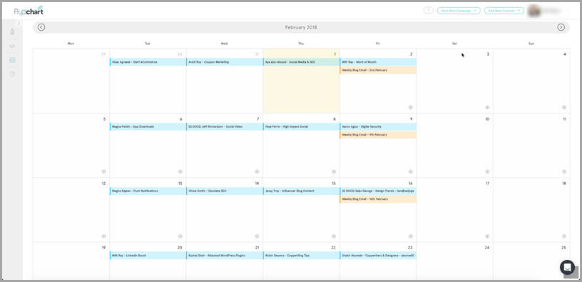 Content Marketing 101 editorial calendar