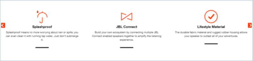 JBL product page example