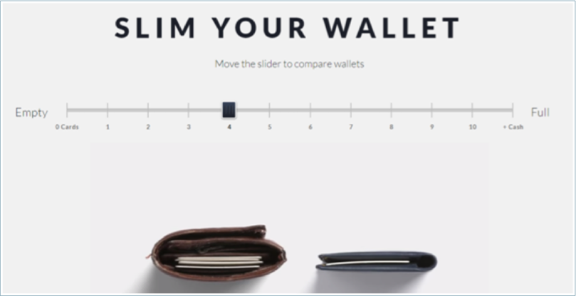 Slim your wallet product page example