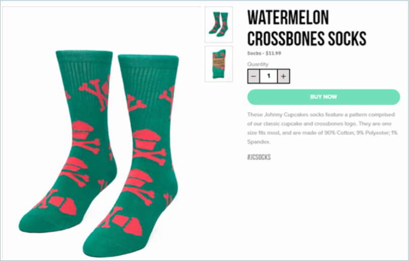 Watermelon boots product page example