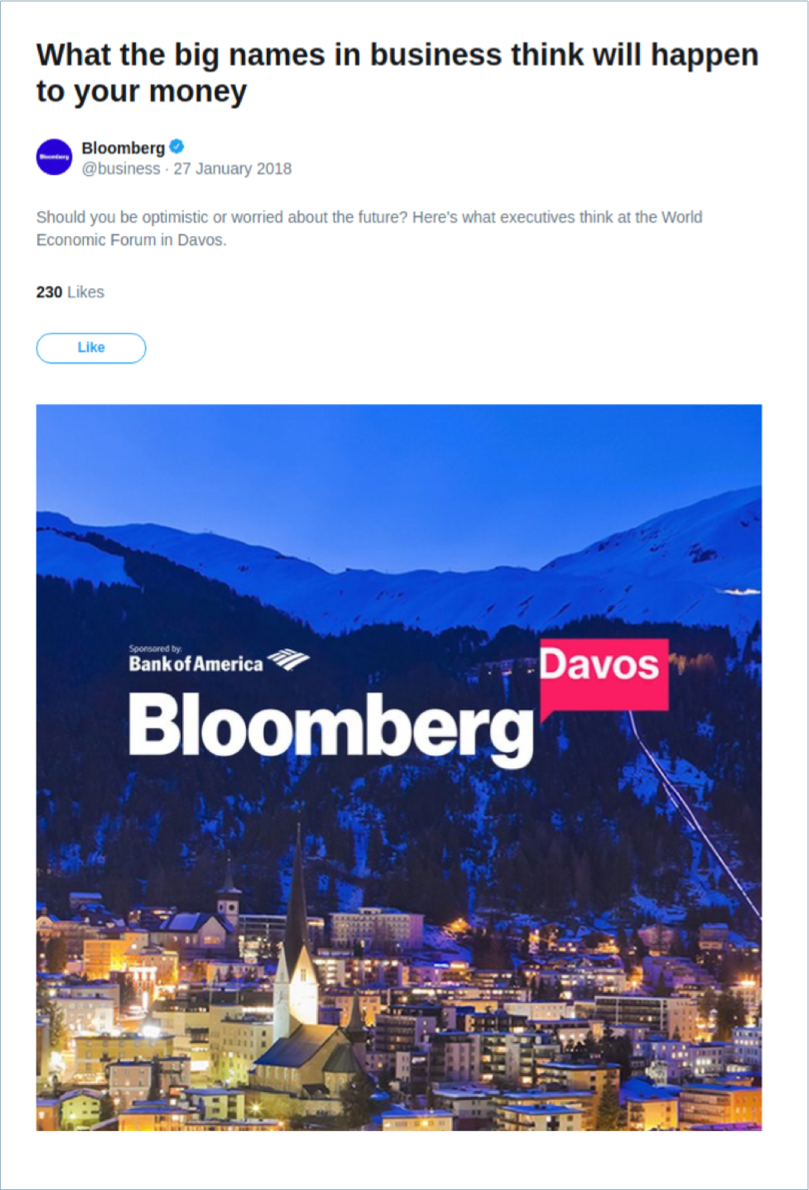 Bank of America Twitter Moments