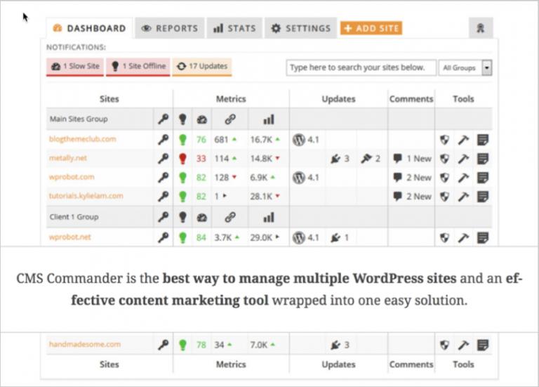 Manage multiple websites - image 5