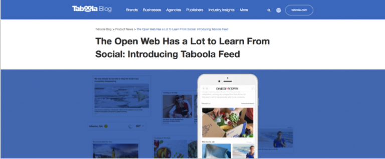 Native ads - Taboola