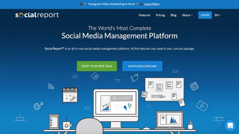 Social media management tool - social report 1
