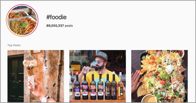 foodie hashtag