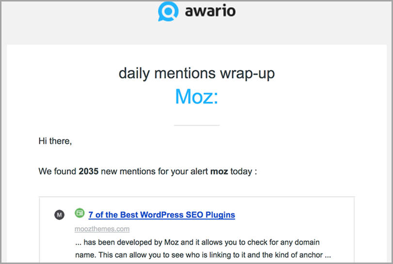 awario for monitor brand mentions