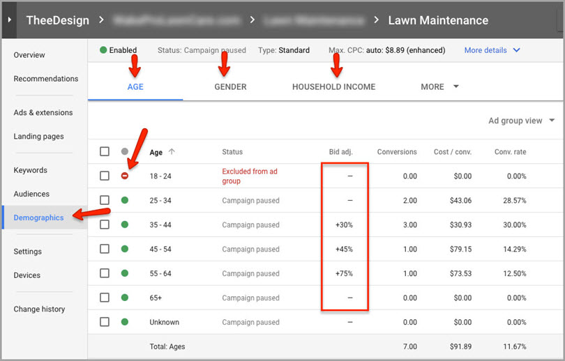 bonus tip for adwords features