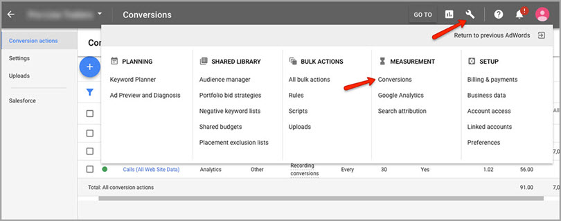 conversations for adwords features