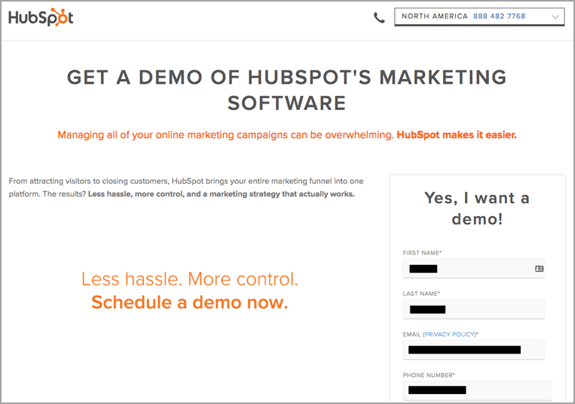 hubspot for call to action phrases