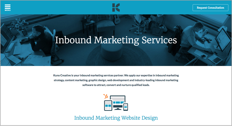 inbound marketing services for call to action phrases