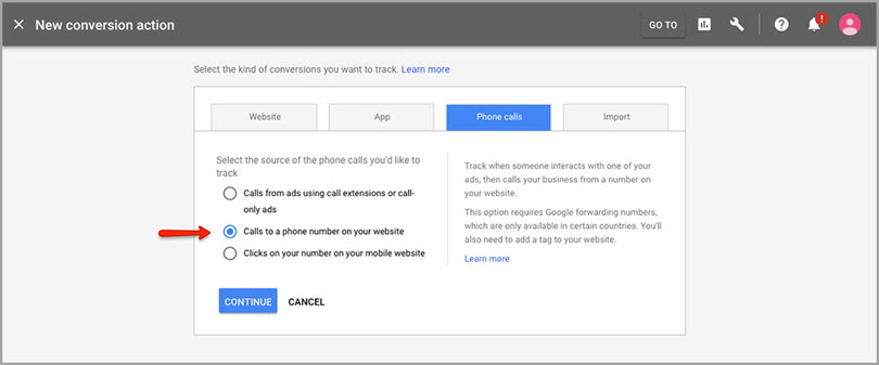 new conversations actions for adwords features