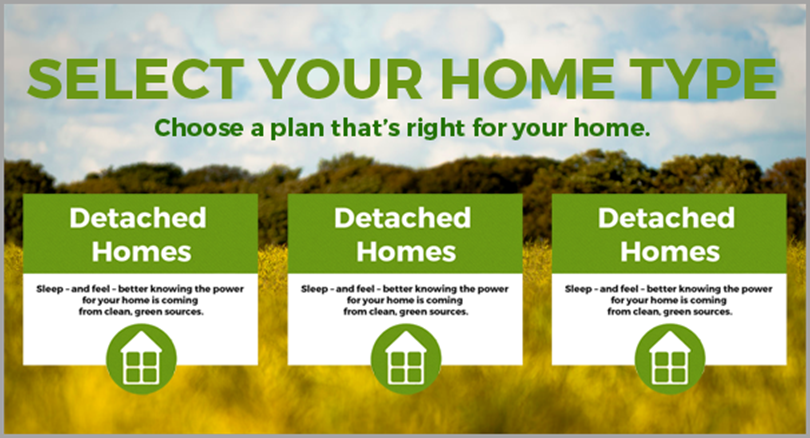 select your home type for call to action phrases