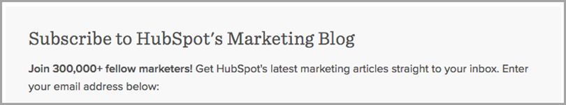 subcribe to hubspot's marketing blog for call to action phrases