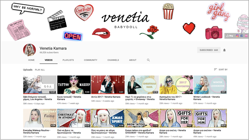venetia for youtube channel growth