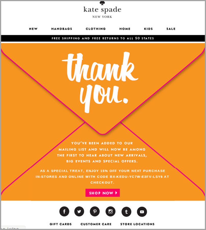 welcome thank you email to impress your customer