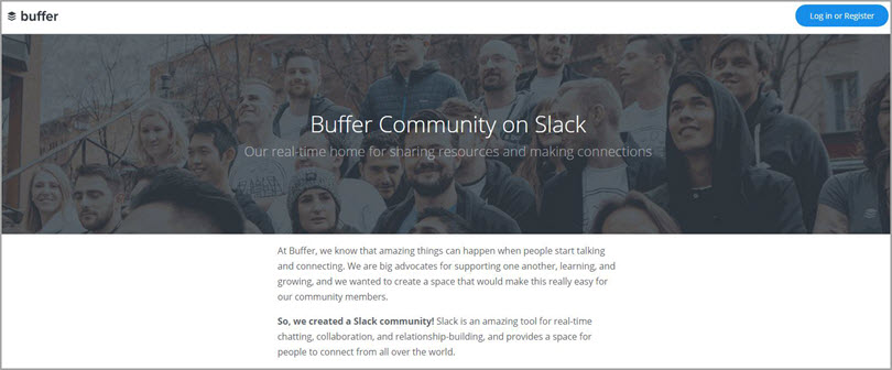 Buffer for slack communities for bloggers