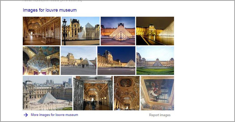 Images for louvre museum for SERP features