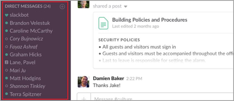 Messages for slack communities for bloggers