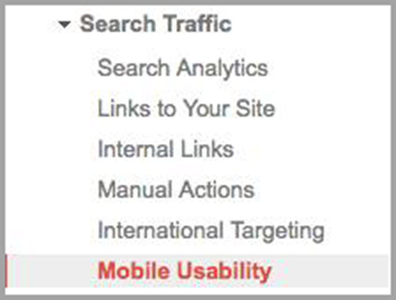 Mobile Usability for Search traffic for SEO metrics