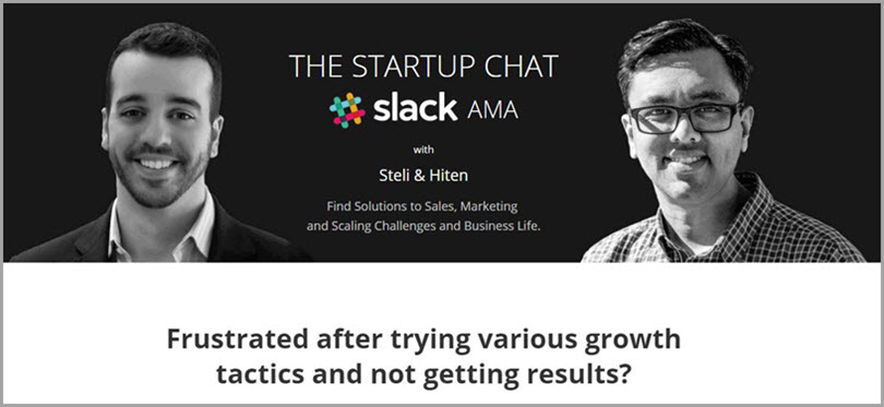 Startup Chat for slack communities for bloggers