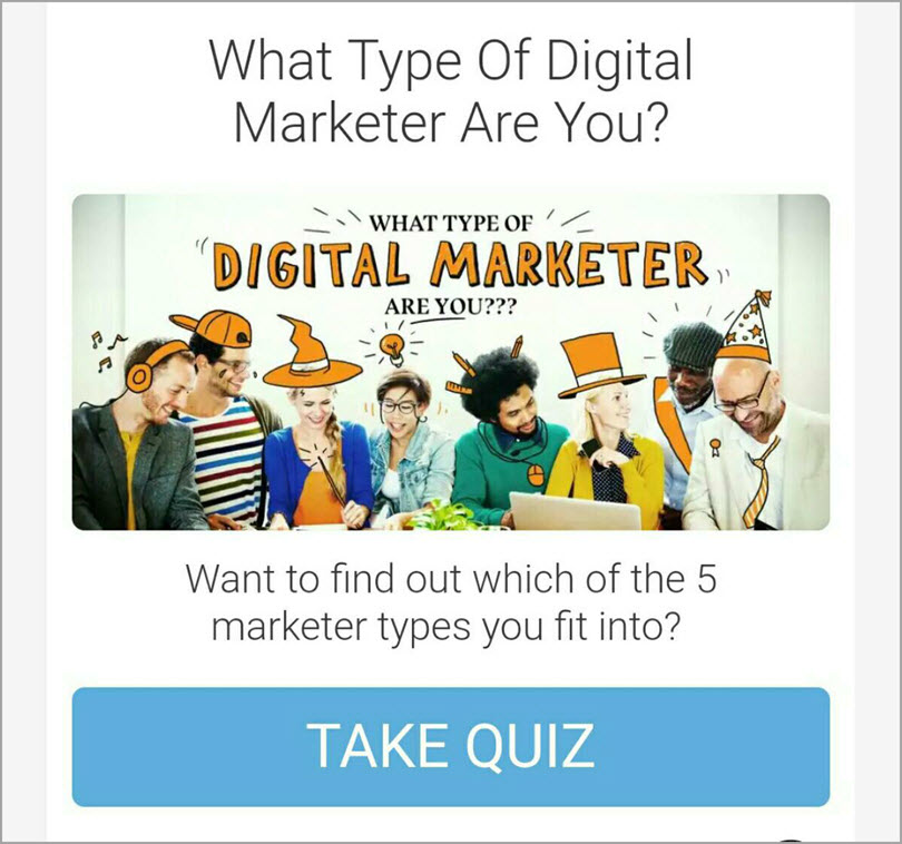 Taking the quiz will tell you which state you belong in for marketing quizzes