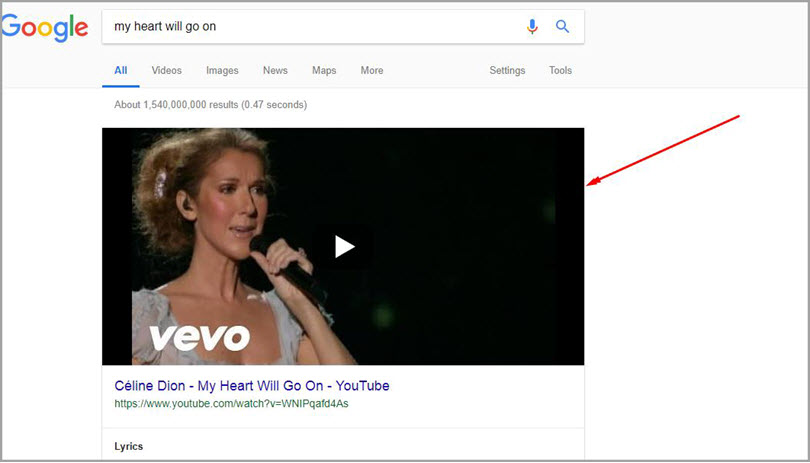 Videos for SERP features