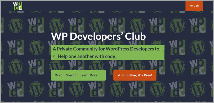 WP Developers' Club for slack communities for bloggers