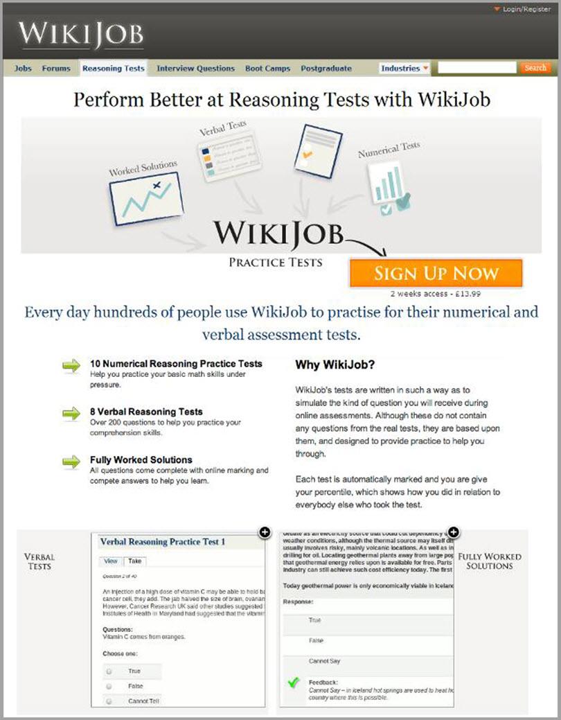 Wiki Job for psychological principles