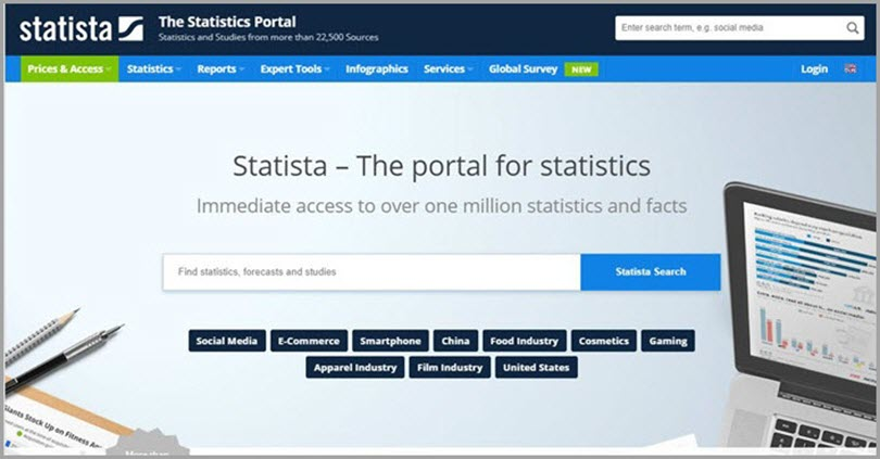 Add More Depth and Flair to Your Content like Statista for resources for freelance writers