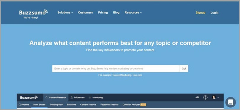 Don't Be Caught Unawares for buzzsumo for resources for freelance writers