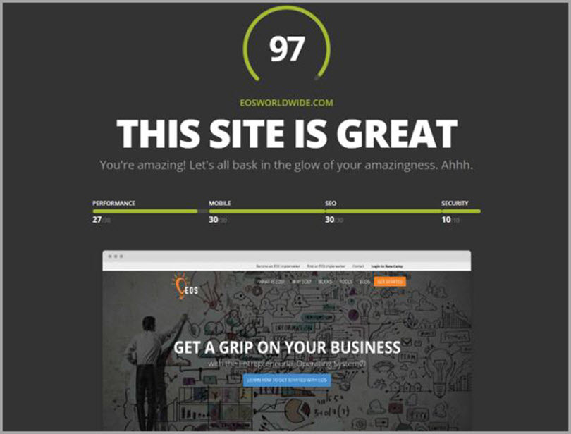 HubSpot's Website Grader for SEO analysis