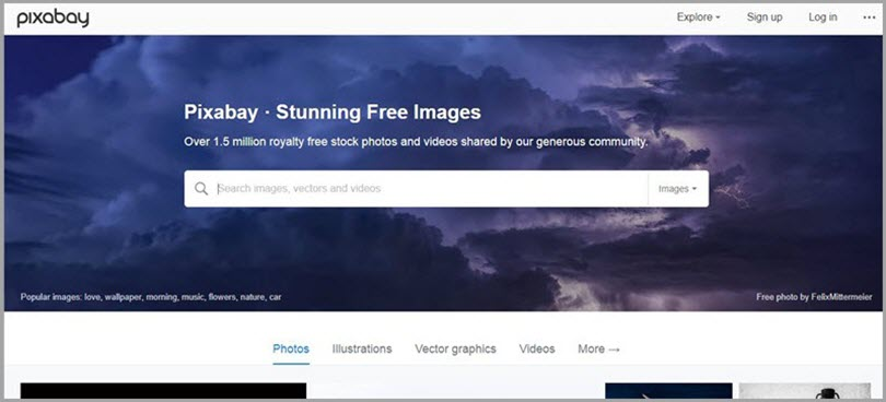 Never Worry About Using Images in Pixabay for resources for freelance writers