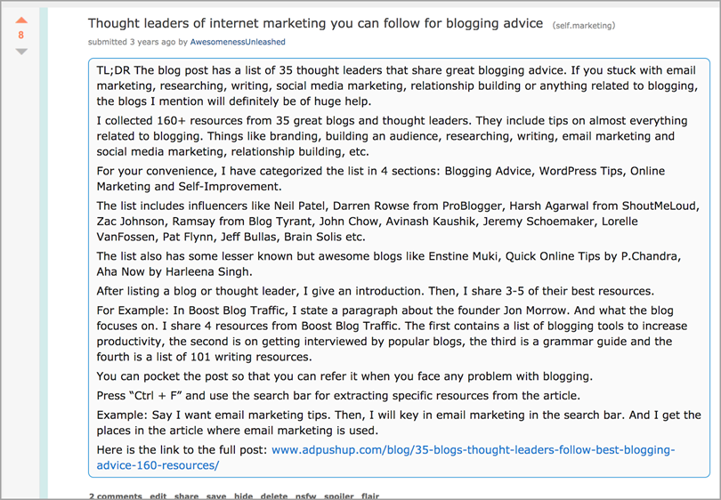 reddit for content promotion strategies