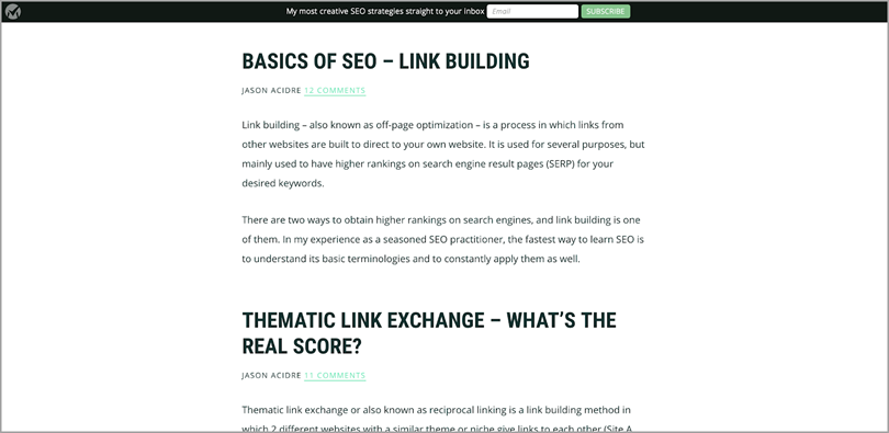 Basic of Seo-Link Building for position yourself as expert