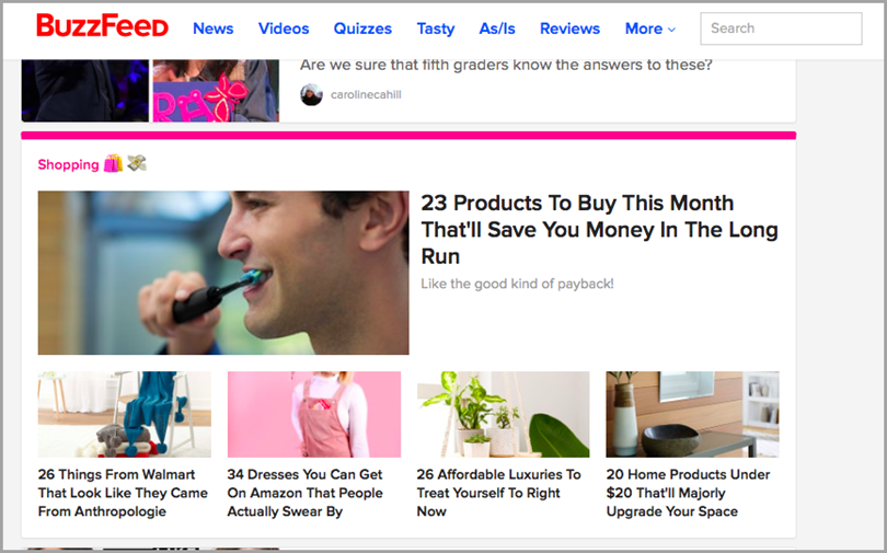 Buzzfeed for E-commerce Keyword Strategy