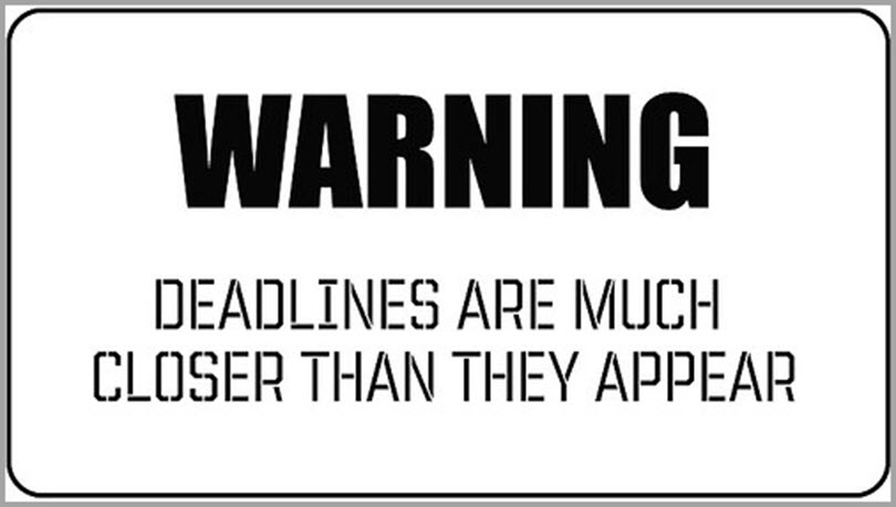 警告书写习惯