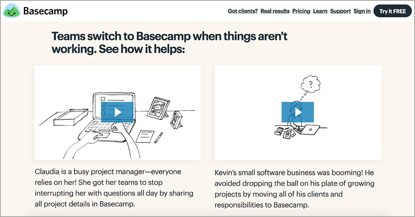 basecamp for position yourself as expert