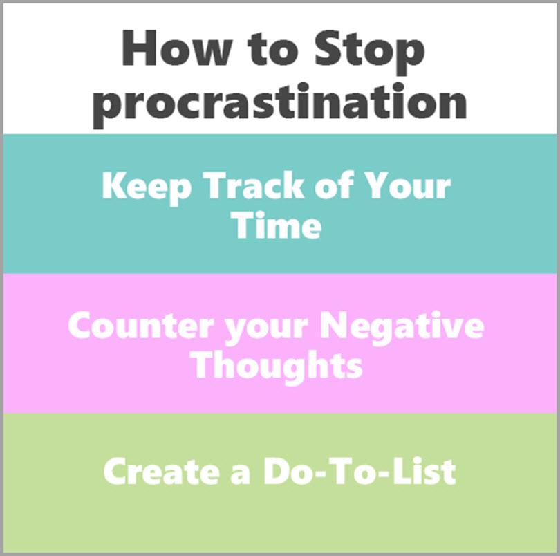 how to stop procrastination for overcome procrastination