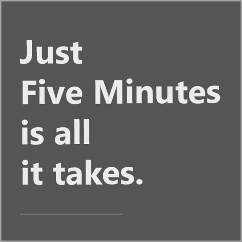 the five minute phenomenon for overcome procrastination