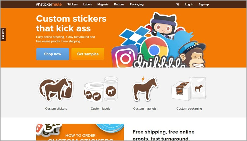 Color psychology Orange like stickermule for color in web design