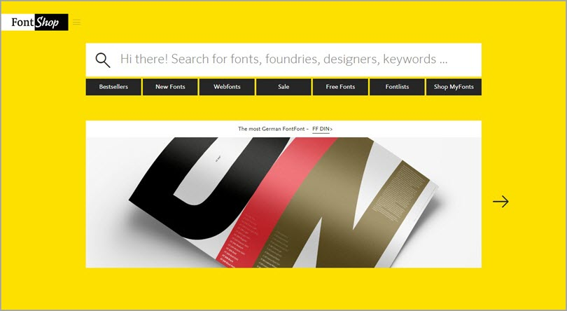 Color psychology Yellow like Font Shop for color in web design