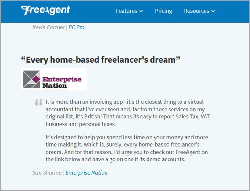 Create a reviews page like FreeAgent for customer reviews in your content