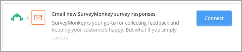 Email new SurveyMonkey survey Responses for email personalization