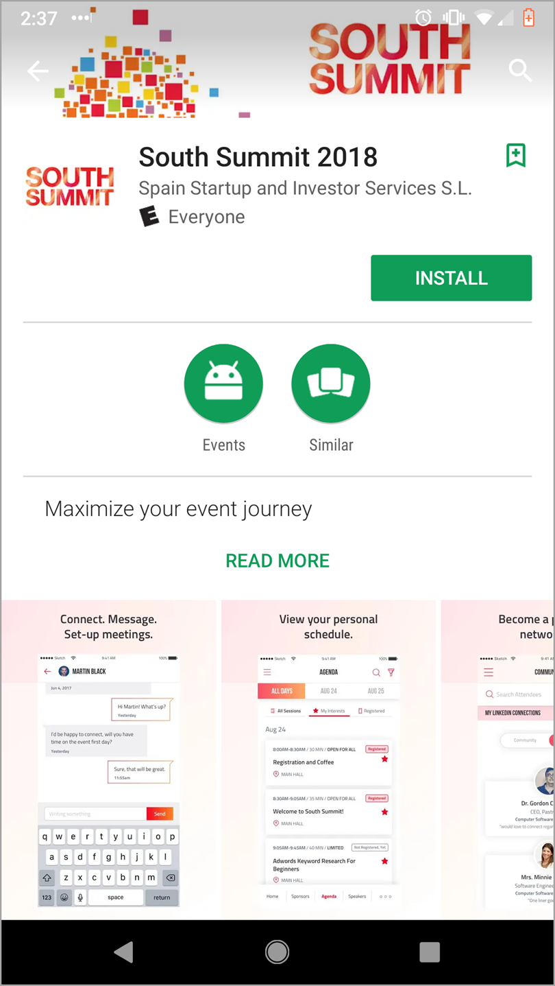 Event App like South Summit for Event Marketing Strategy