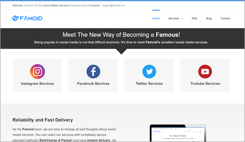 Famoid Social Boosting Services for <a href=